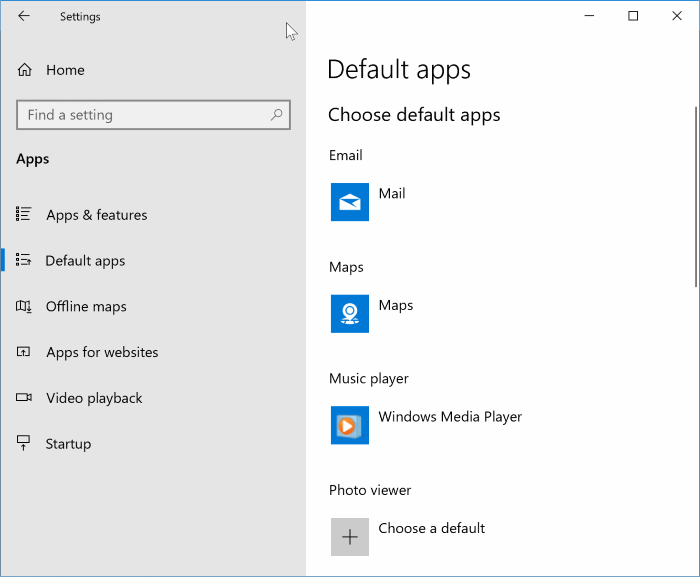 set windows media player as default in Windows 10 pic3