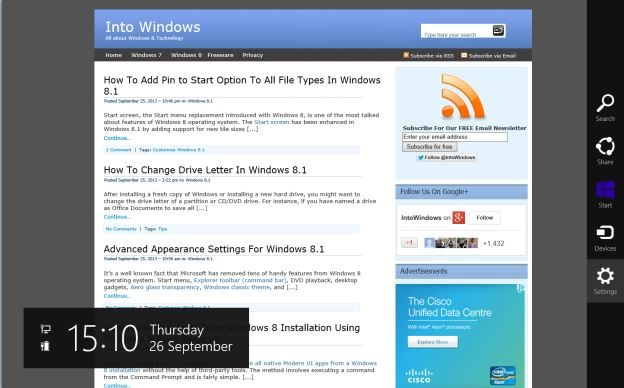 Always show address bar and tabs in Internet Explorer11 Step1