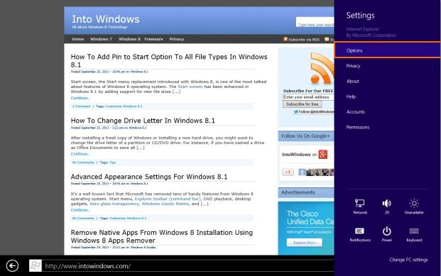 Always show address bar and tabs in Internet Explorer11 Step2