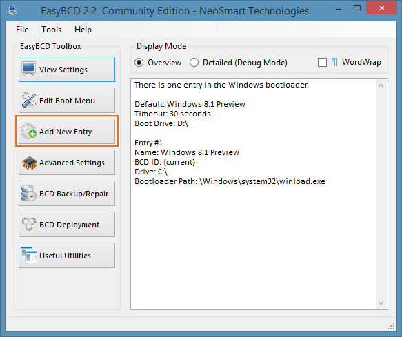 Boot from ISO In Windows Step1