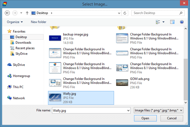 Change Folder Background In Windows 8.1 Using WindowBlinds Step7