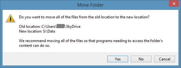 Change SkyDrive Location in Windows 8.1 Step7
