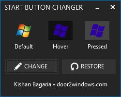 how to change windows 10 start button