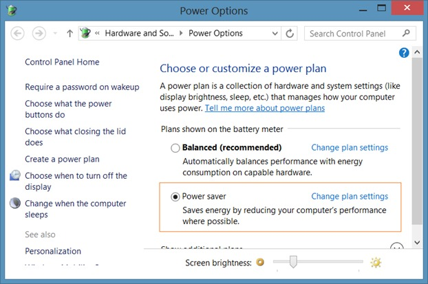 Disable Auto Brightness in Windows 8.1 Step2
