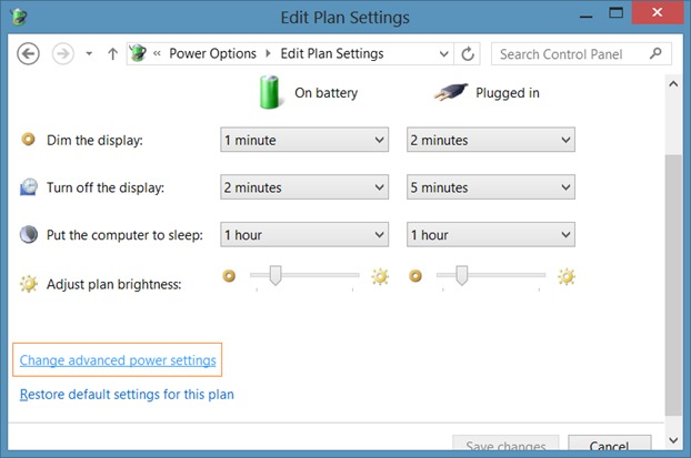 Disable Auto Brightness in Windows 8.1 Step3