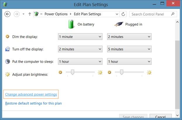 Disable Auto Brightness in Windows 8.1 Step3