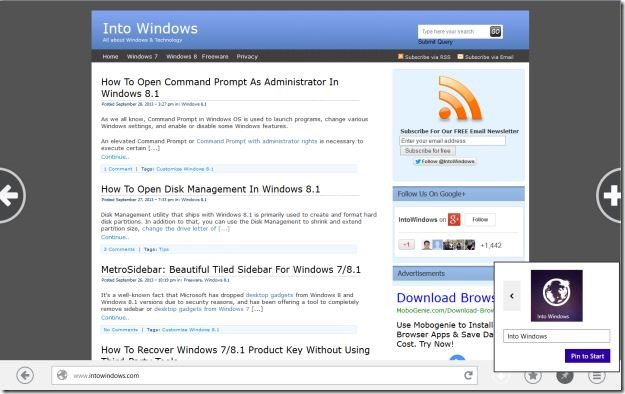 Firefox Metro for Windows 8.1