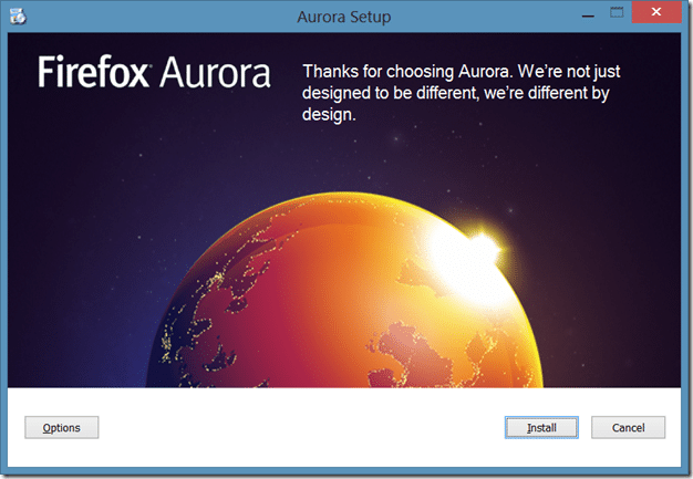 Firefox Metro version