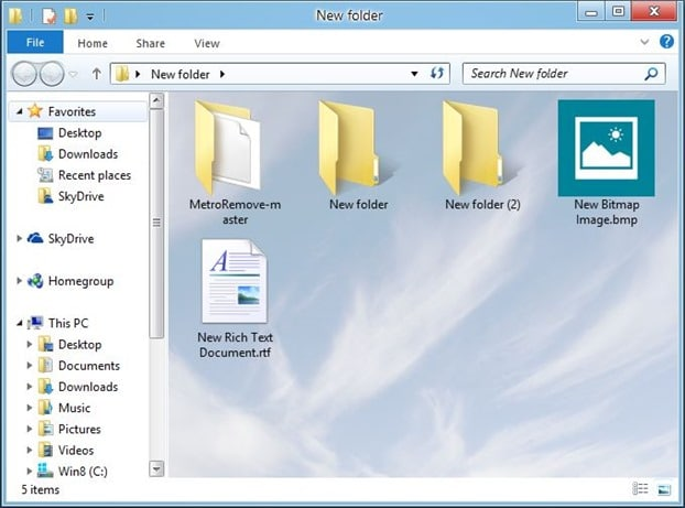 Folder Background picture in Windows 8.1