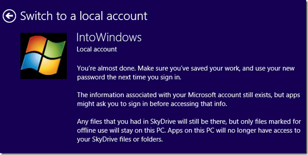 Install Windows 8.1 Without Microsoft Account Step6