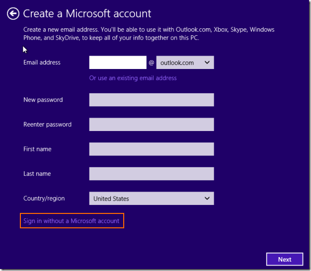 Install Windows 8.1 without Microsoft Account ID (1)