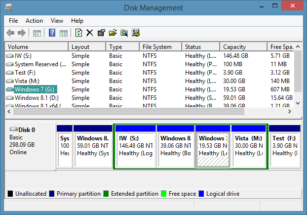 Open Disk Management In Windows 8.1