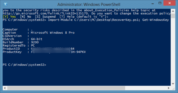 Recover Windows Prodcut Key Without tools1