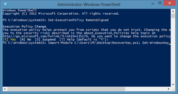 Recover Windows Prodcut Key Without tools