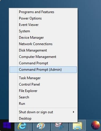 Run Command Prompt as administrator in Windows 8 Method2 Step3