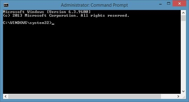 Run Command Prompt as administrator in Windows 8.1