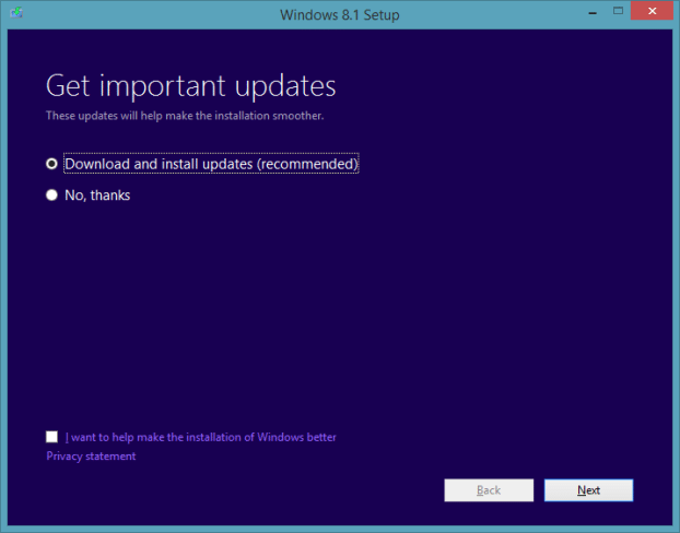 Upgrade Windows 8.1 Preview To RTM Step12