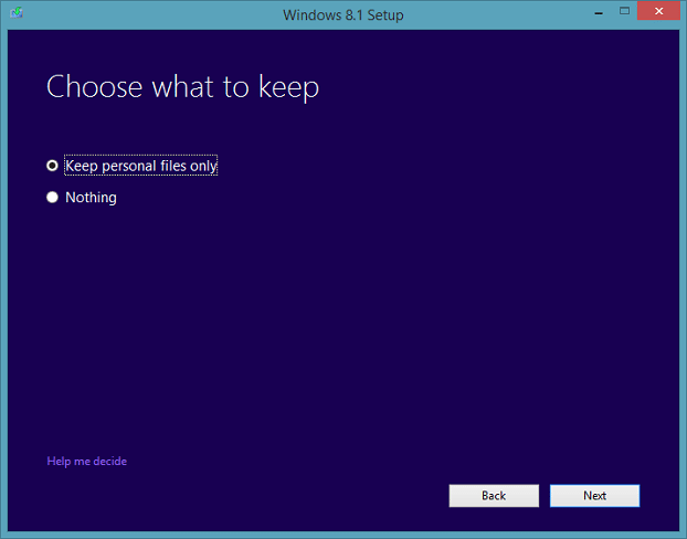 Upgrade Windows 8.1 Preview To RTM Step5