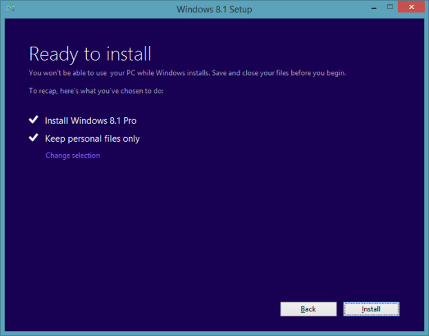 Upgrade Windows 8.1 Preview To RTM Step7