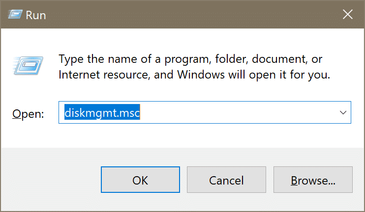 open disk management in Windows 10 pic1