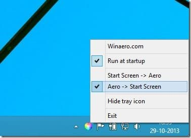 Automatically Change Start Screen Background Color In Windows 8.1 Picture1