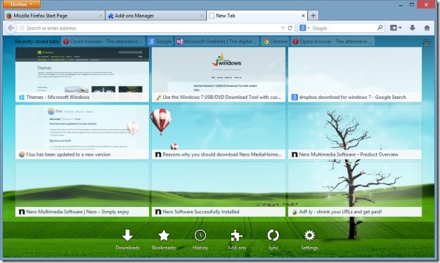 Change firefox new tab page background using new tab tools - How to change firefox background image ...