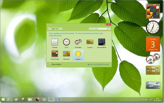 Desktop Gadgets Reviver for Windows 8.1 Picture1