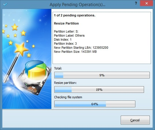 Extend System Partition In Windows 8.1 Method 2 Step6