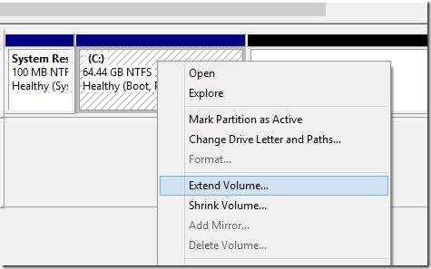 Extend System Partition in Windows 8.1 Step4