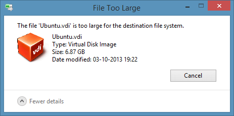 Fix: The File Is Too Large For The Destination File System