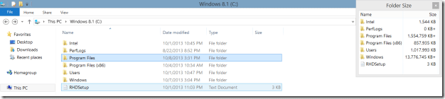 Folder Size in Windows Explorer8.1