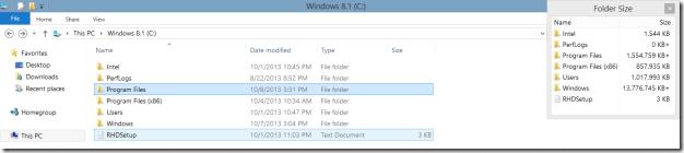 Folder Size in Windows Explorer8.1