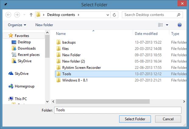Pin Folders to Taskbar In Windows 8.1 Method1 Step2
