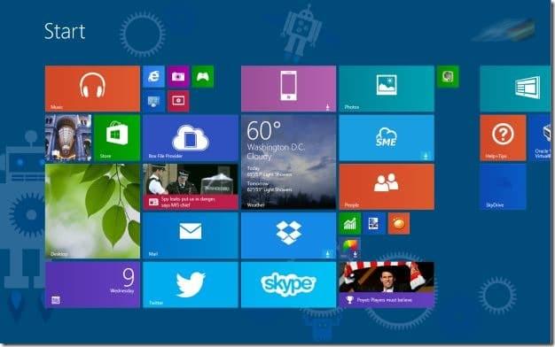 Set Start Scren Background Color as Window border and taskbar color Windows 8.1