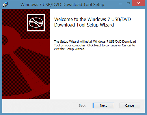 Windows 7 USB/DVD Download Tool For Windows 8.1