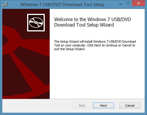 Windows 7 USB DVD Download Tool for Windows 8.1 Step1