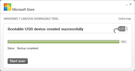 Windows 7 USB DVD Download Tool for Windows 8.1 Step8