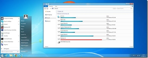 Windows 7 theme for Windows 8.1