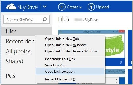 Access SkyDrive Without Microsoft Account In Windows 8.1 Step1