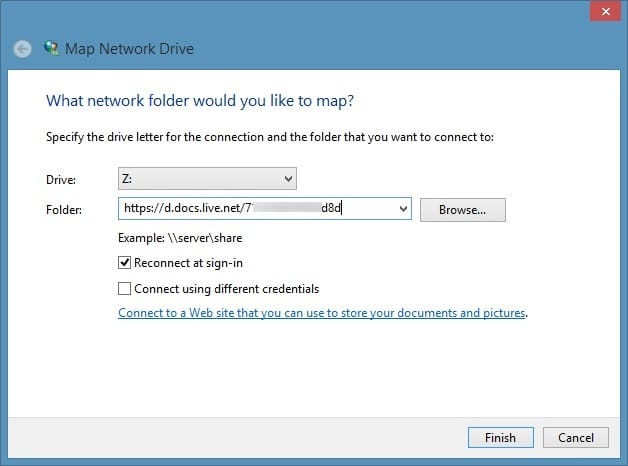Access SkyDrive Without Microsoft Account In Windows 8.1 Step5