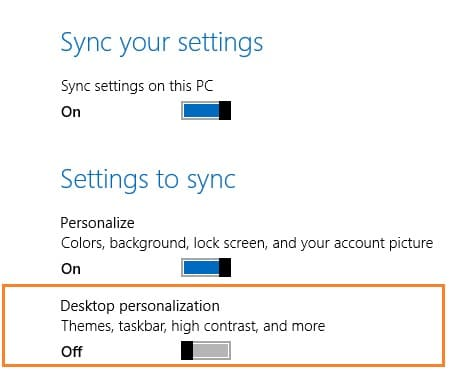 Disable desktop background syn in Windows 8.1 Step6