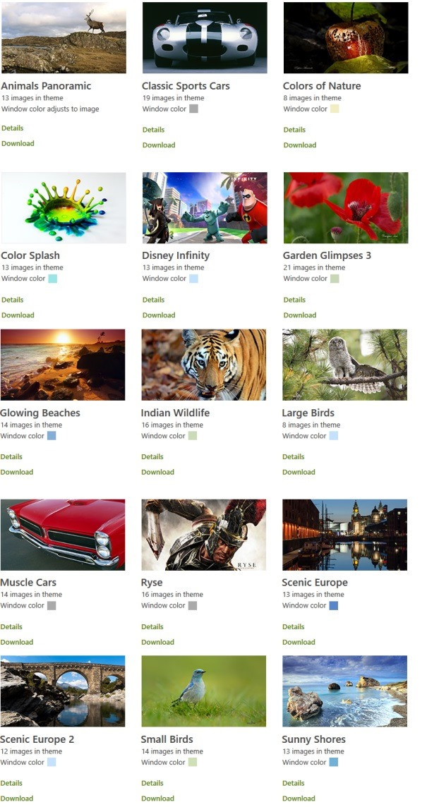 Download New Themes for Windows 8.1