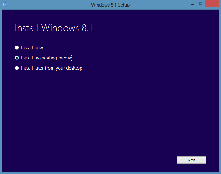 download Windows 8.1 iso from Microsoft step7.1