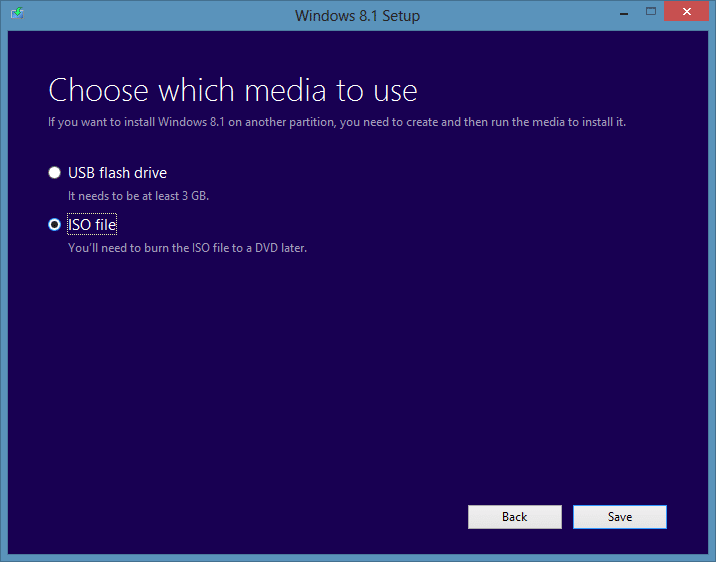 download Windows 8.1 ISO from Microsoft step 8.1