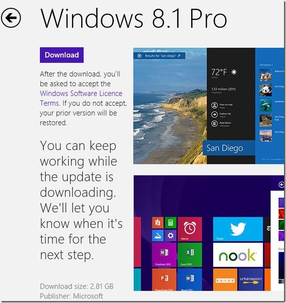 Download and install Windows 8.1 update Step2