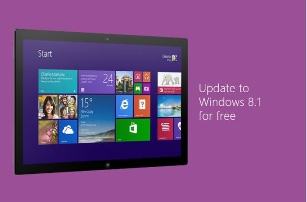 Download and install Windows 8.1 update