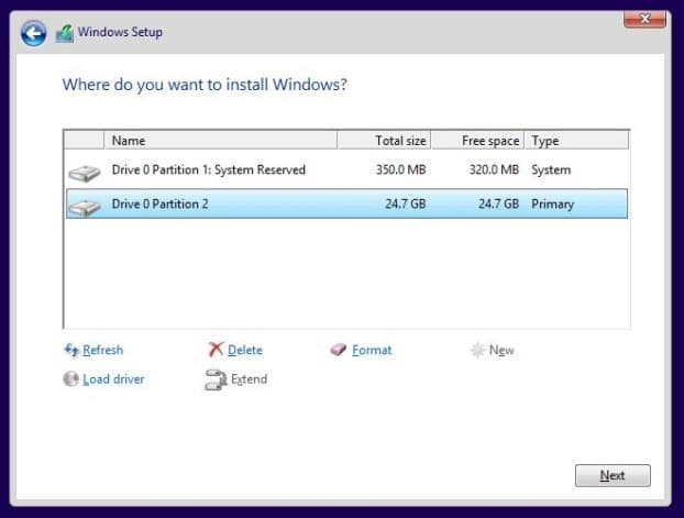 Install Windows 8.1 on SSD Step8