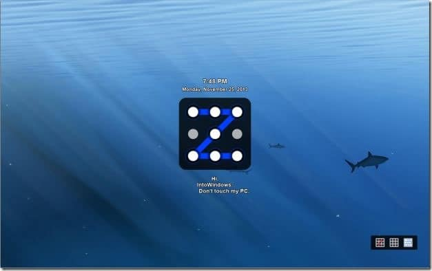 Pattern Lock screen for Windows PC