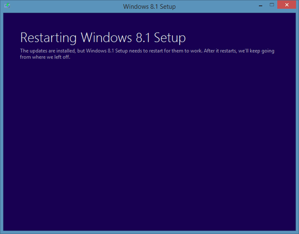 Repair Windows 8.1 installation Step2