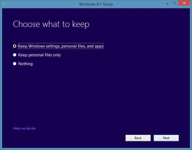 Repair Windows 8.1 installation Step5